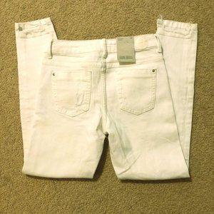 Zara Basic Denim White Jeans
